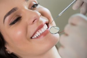 Woman at dental examination